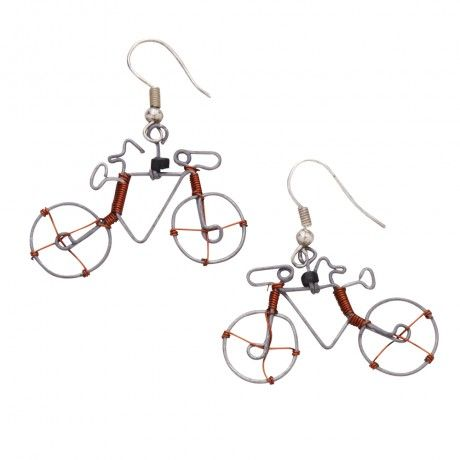 Cycling Whimsy Earrings Ten Thousand Villages #fairtrade