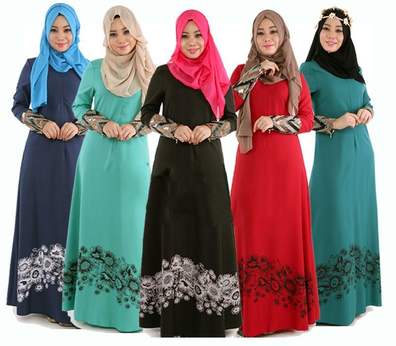 buy popular c0fd1 0b635 Günstige M 2XL Islamischen Abaya Kleider Frauen Arabischen ...
