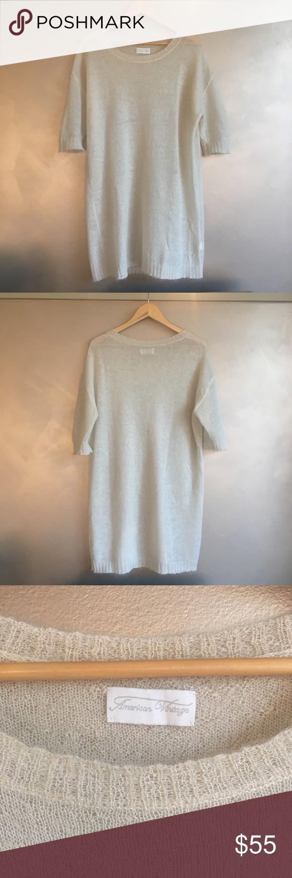 American Vintage Sweater Dress Jumper Merino Wool Vintage Sweaters American Vintage Sweater Dress