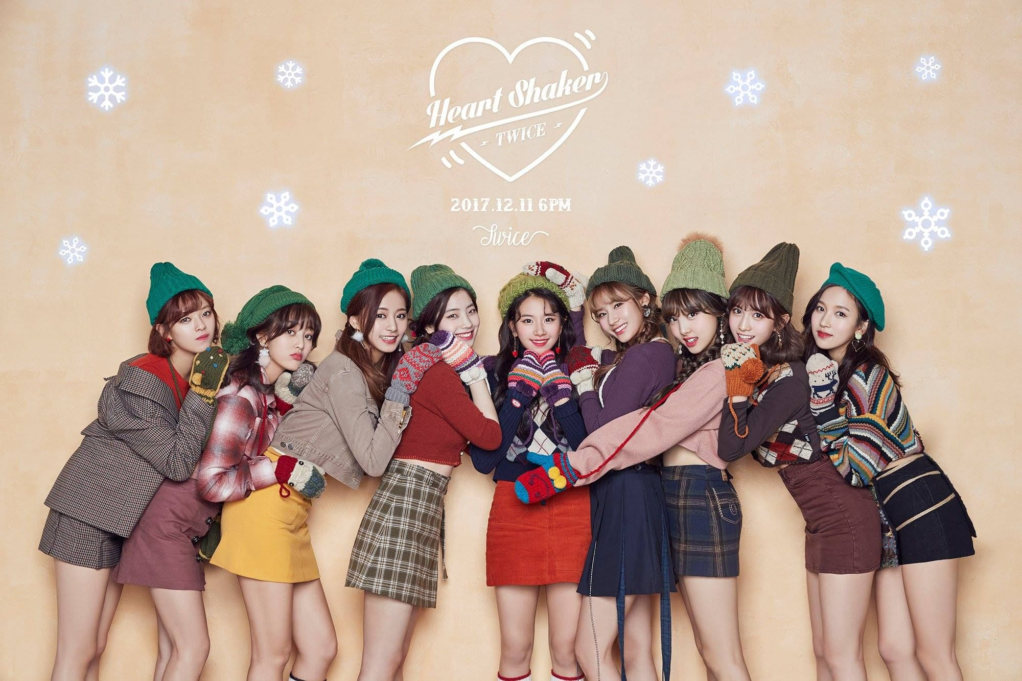Wallpaper Twice Special Heart Shaker And Christmas 2000 X 1333 Hd For Dekstop Twice Photoshoot Merry Happy Twice Album