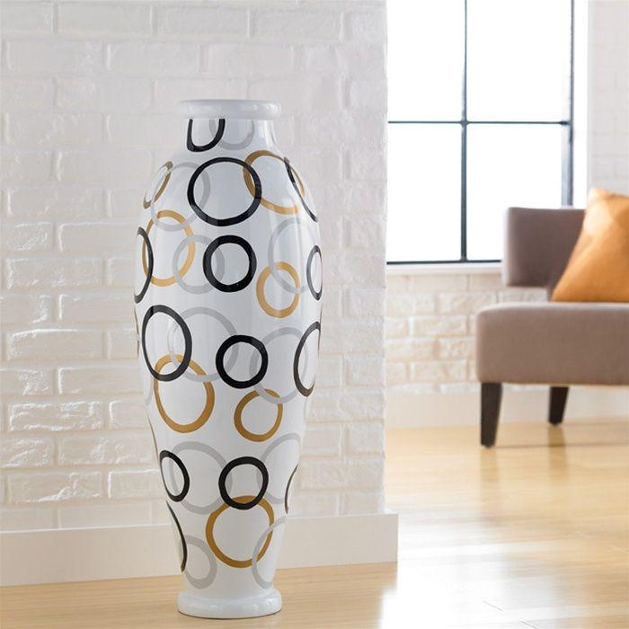 Modern Circles Floor Vase Large Urn Client Sports 052013