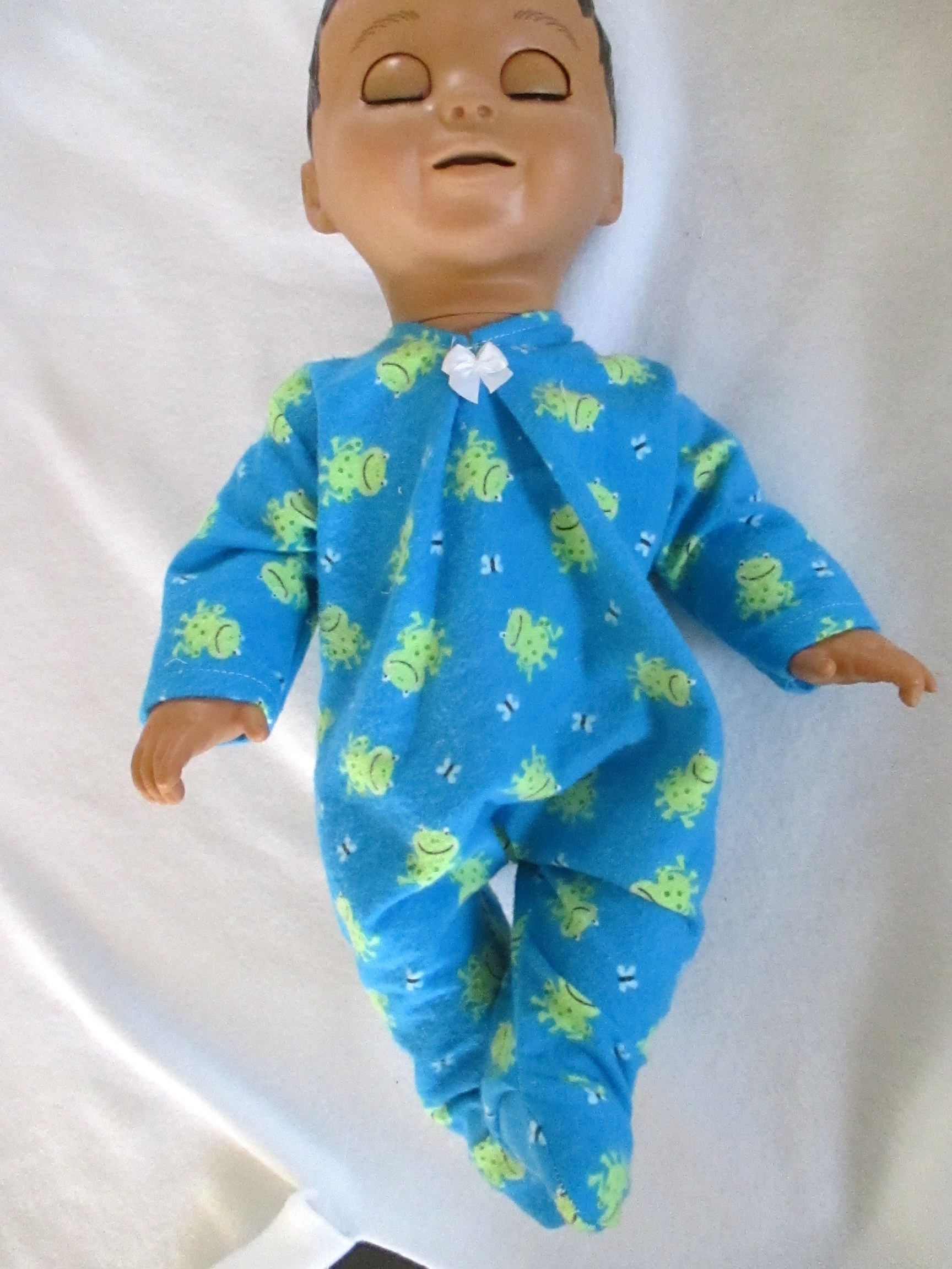 Doll Clothes Luvabella Luvabeau Footed Sleeper 100 Cotton Flannel