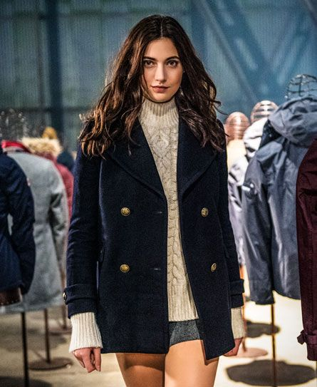 a670c9a3e Superdry Classic Pea Coat Navy | My Superdry | Peacoat outfit, Pea ...