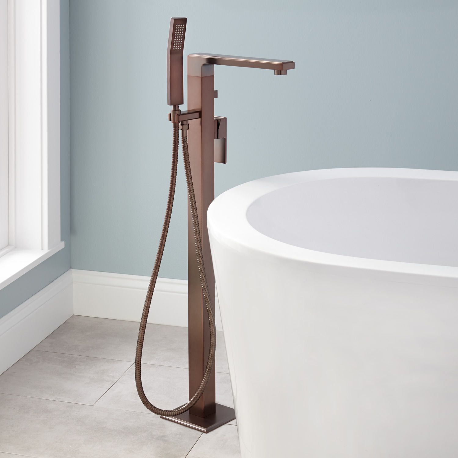 Ryle Freestanding Tub Faucet And Hand Shower In Oil Rubbed Bronze