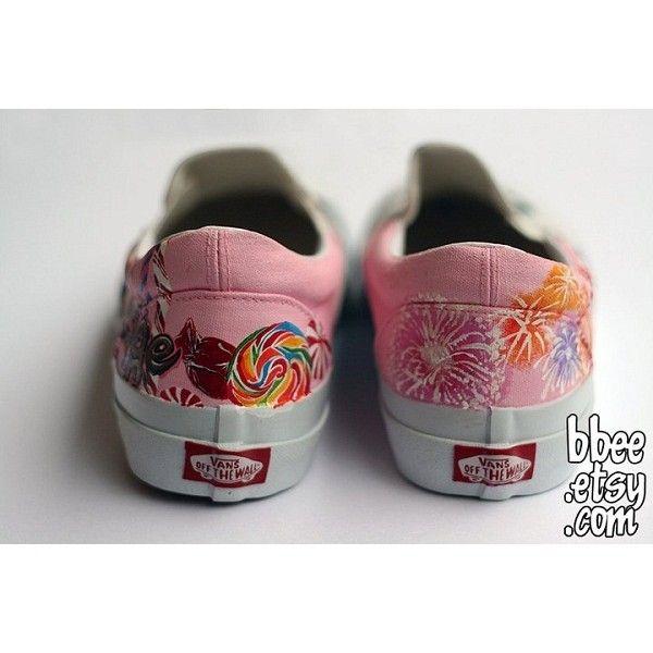 9ecf93963e Katy Perry Custom Painted Vans Slip On Shoes