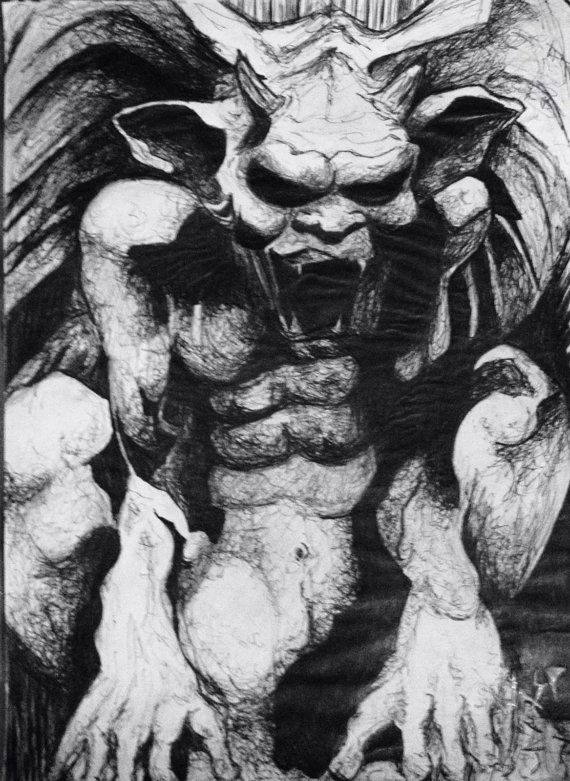 This Is A Detailed Drawing Of Gargoyle There Was Only One Artist From The