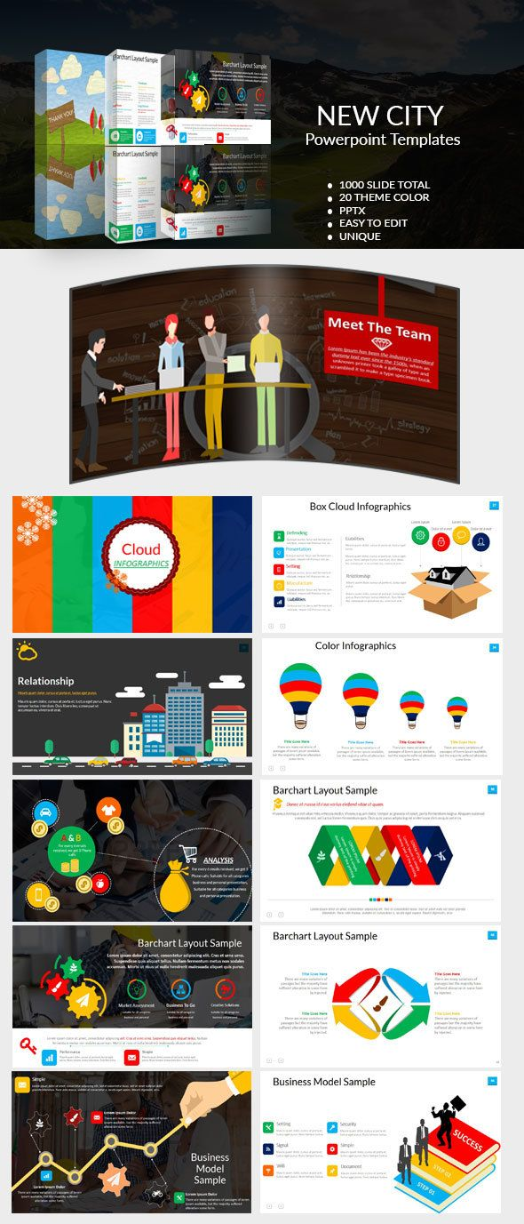 New City Powerpoint Template Business Powerpoint Templates