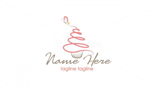 Cupcake Logo 1 Ready Made Designs