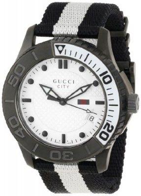 c7441c9a8b7 Relógio Gucci Men s YA126243 Gucci Timeless White Diamond Pattern Dial  Watch  Relógio  Gucci