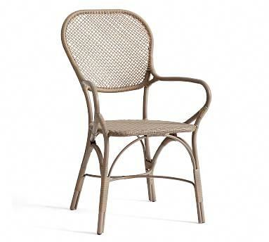 Brea All Weather Wicker Bistro Dining Chair Bistro Chairs