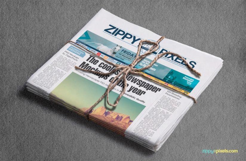 Professional Newspaper Psd Mockups  Newspaper Mockups Showing
