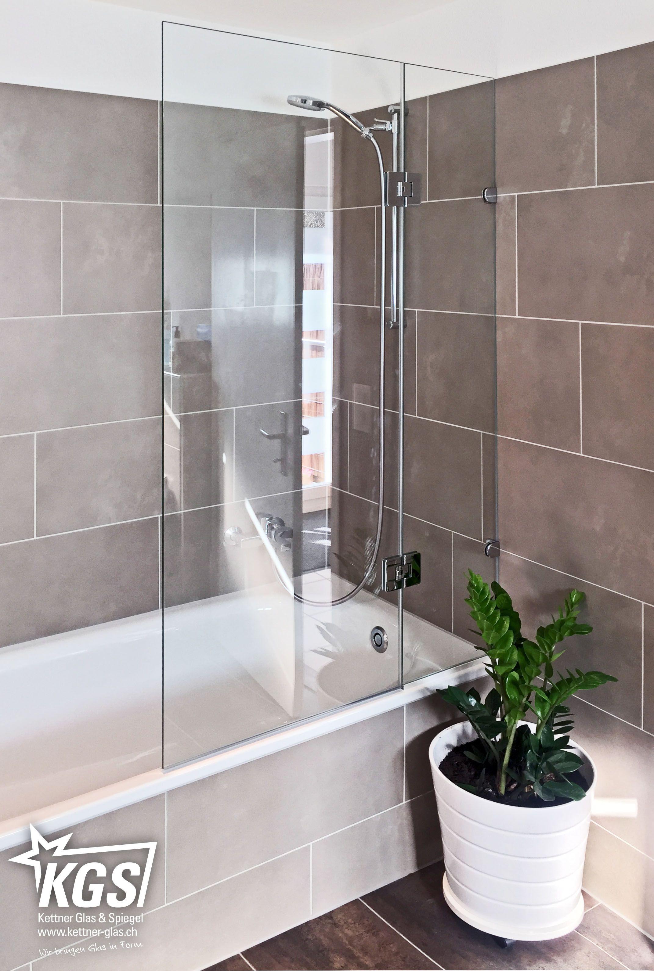 Badewannen Duschtrennwand Mit Pendelture Mit Schlichten Glashaltern In Chrom Glanz Optik Duschbadewanne Badewanne Glaswand Badewanne