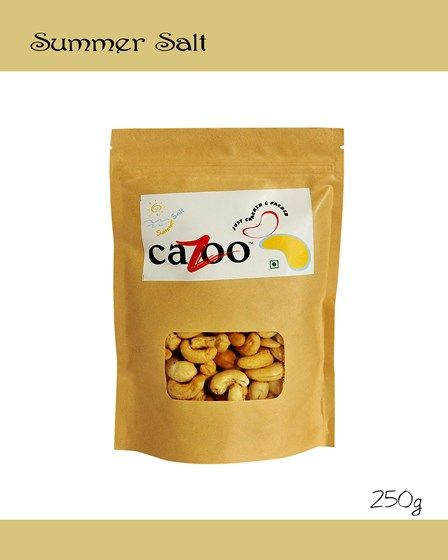 Flavoured Cashew Nuts, Dry Fruits, Cazootree, Summer Salt Cashew Nuts