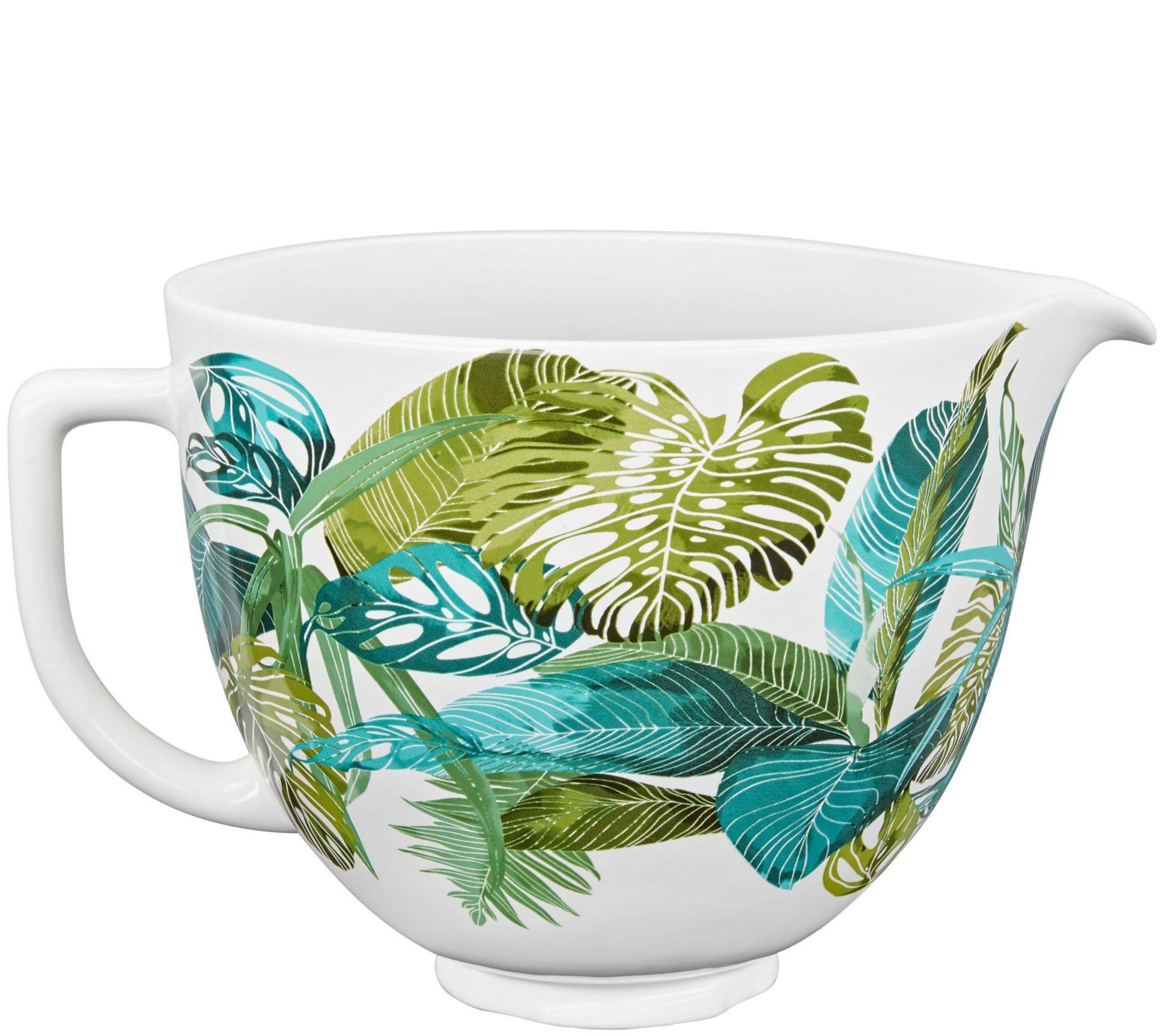 Kitchenaid 5quart ceramic patterned bowl tropical floral