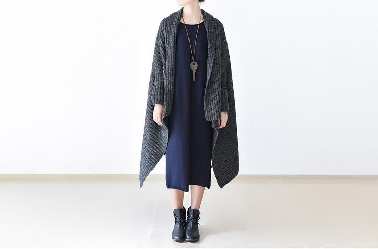 Women's cardigan thick wool sweater #ribbed-knit #showl #outwear ...