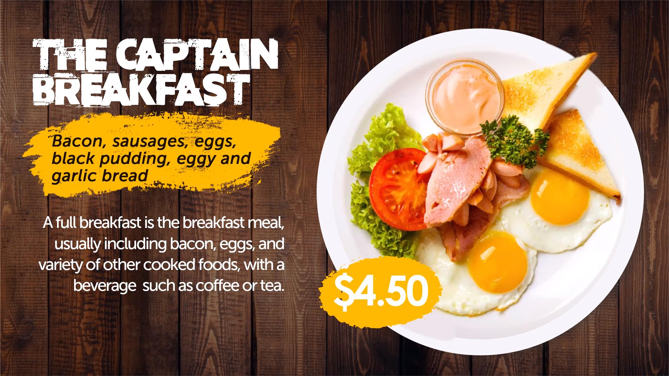 Food promotion digital signage template