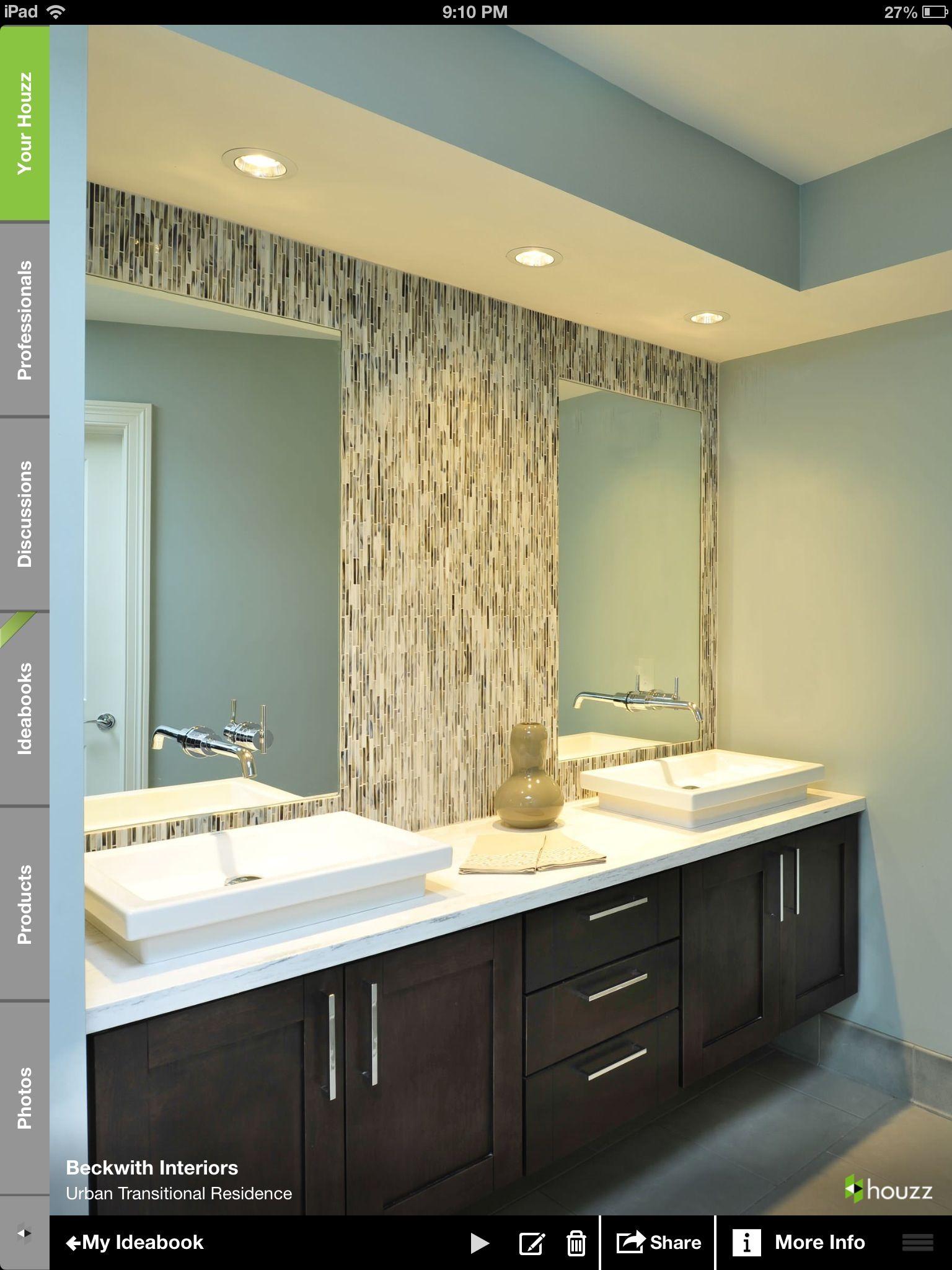 Basic Bathroom Remodel Set master bath idea set up with make up vanity in middle | house