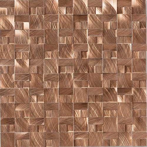 Structure Glass Metal Decorative Accents Daltile Copper Tiles Copper Wall Tiles Daltile