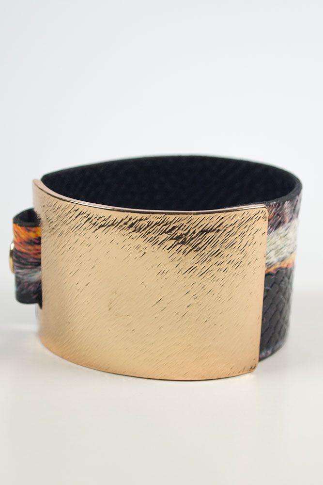 Strapped Metal Cuff–Multi $24