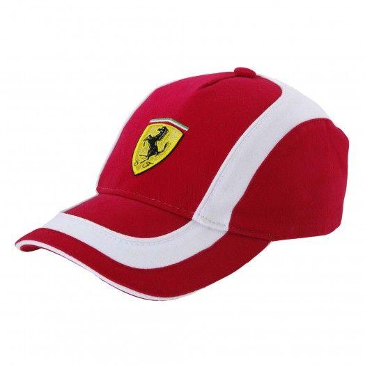 Men S Ferrari Shield Bi Colour Cap Ferrari Store Hats For Men Summer Cap Ferrari