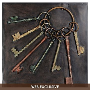 This vintage metal wall plaque would look great hanging in an entryway above your key hooks! #kirklands