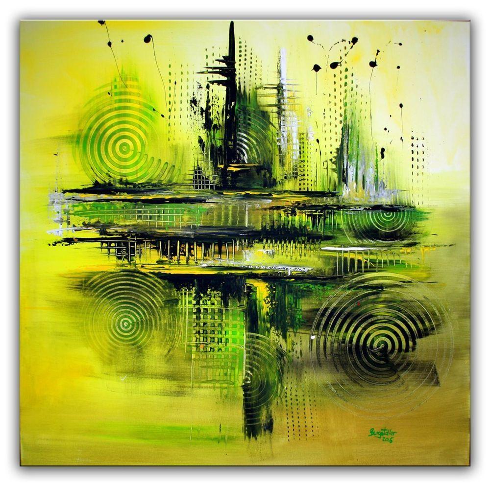 Burgstaller Kunst Malerei Abstrakt Original Bild 100x100 Acrylbild