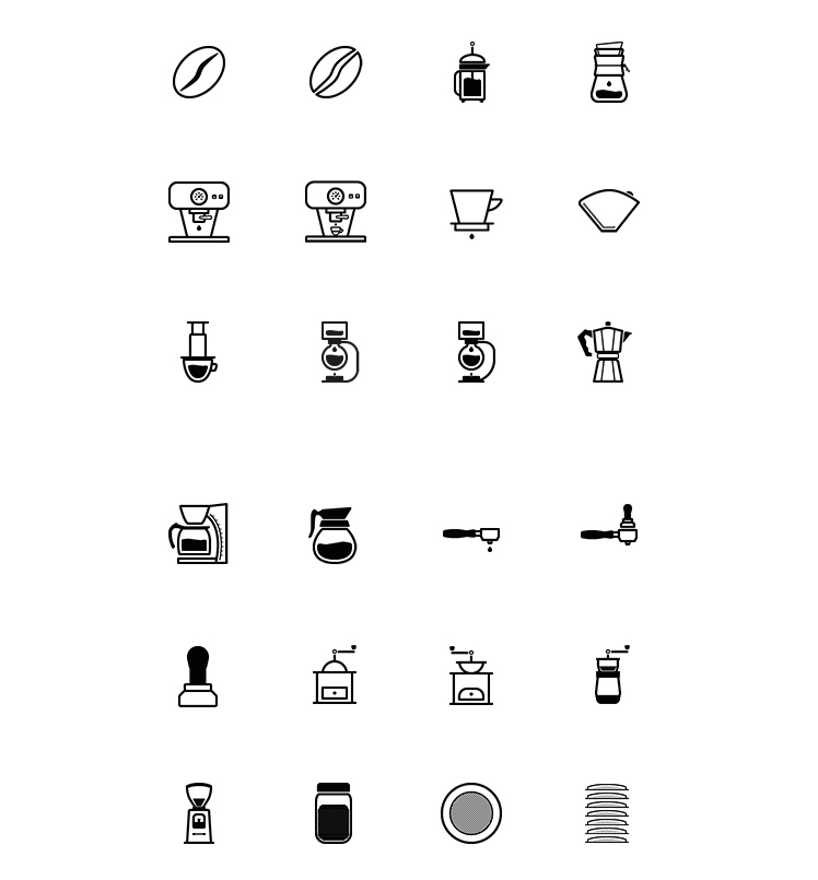 Barista And Coffee Lovers Icon Set Icons Fribly Coffee Icon Graphic Design Tattoos Coffee Tattoos