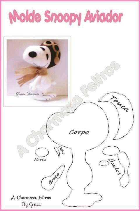 snoopy | Cartamodelli | Pinterest | Filzen, Nähen und Puppen