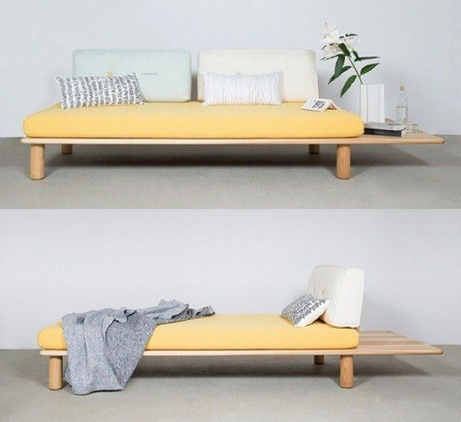 Sofa-cama inspiracion japonesa Sillon cama tv Pinterest Tiny