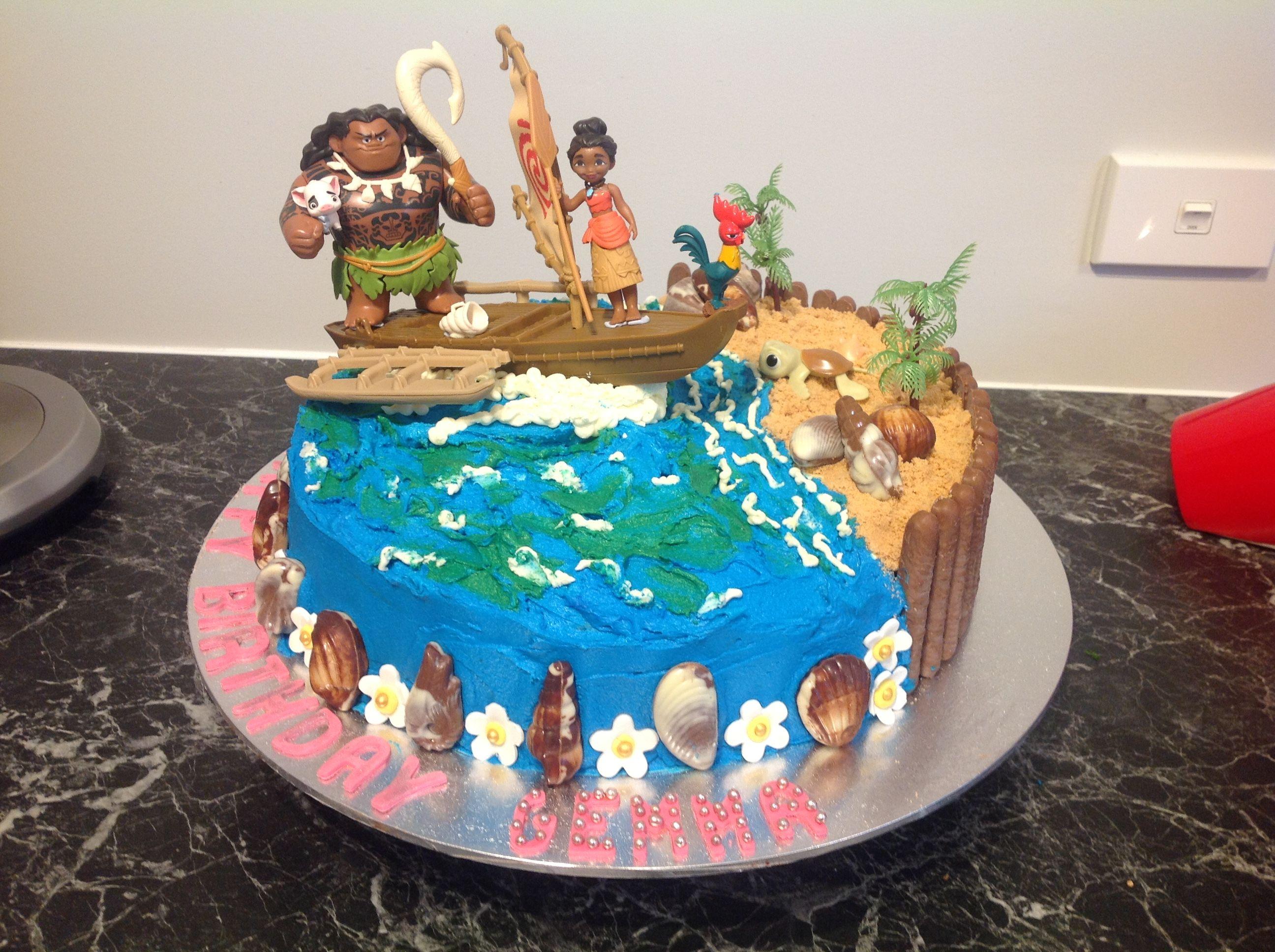 Cake Design Moana : Made this Moana cake for Gemma s 6th Birthday Cakes ...