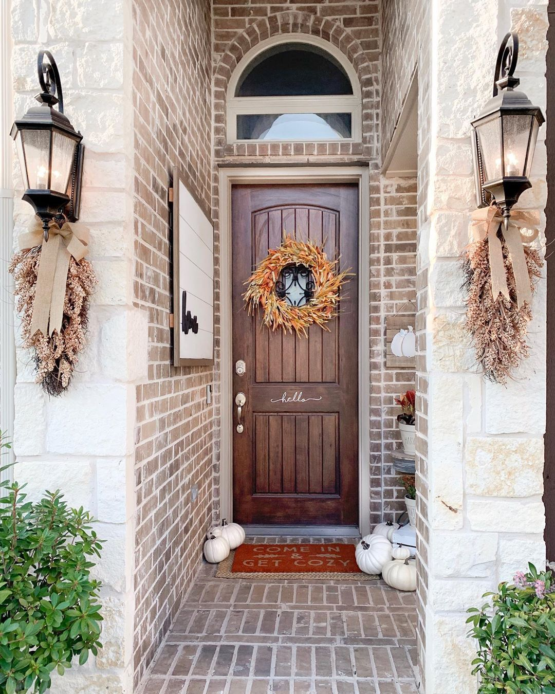Front porch update with @Kirklands!! Fall decor. Front porch decor