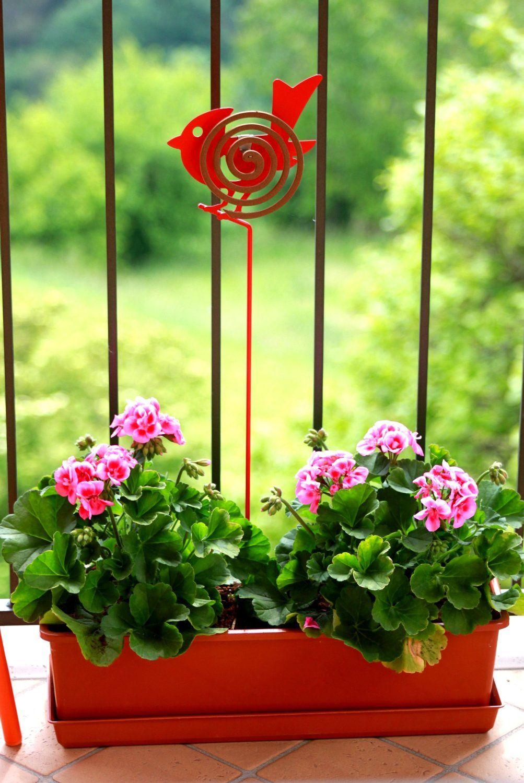 Stick bastone porta zampironi in metallo ideale per for Decorazione giardino per battesimo