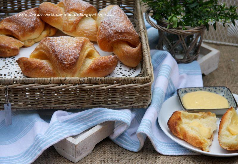 Lemon Curd Brioche Croissant