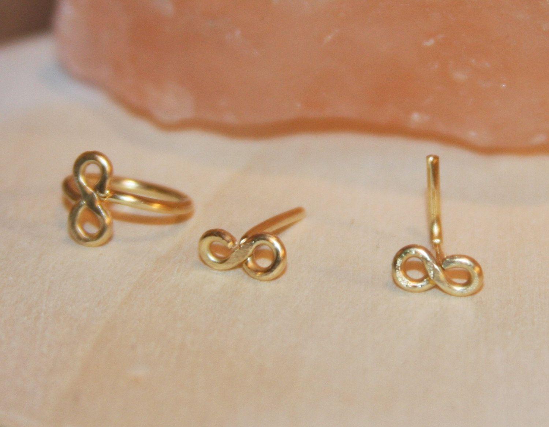 Nose piercing earrings  Infinity Cartilage Earring Cartilage Hoop Earrings Infinity
