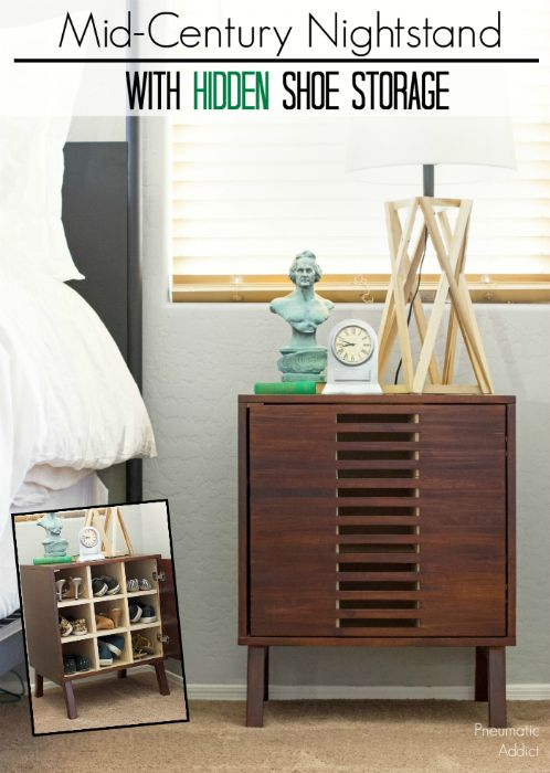 Attractive Learn How To Build A Mid Century Nightstand With Hidden Shoe Storage With  FREE Building