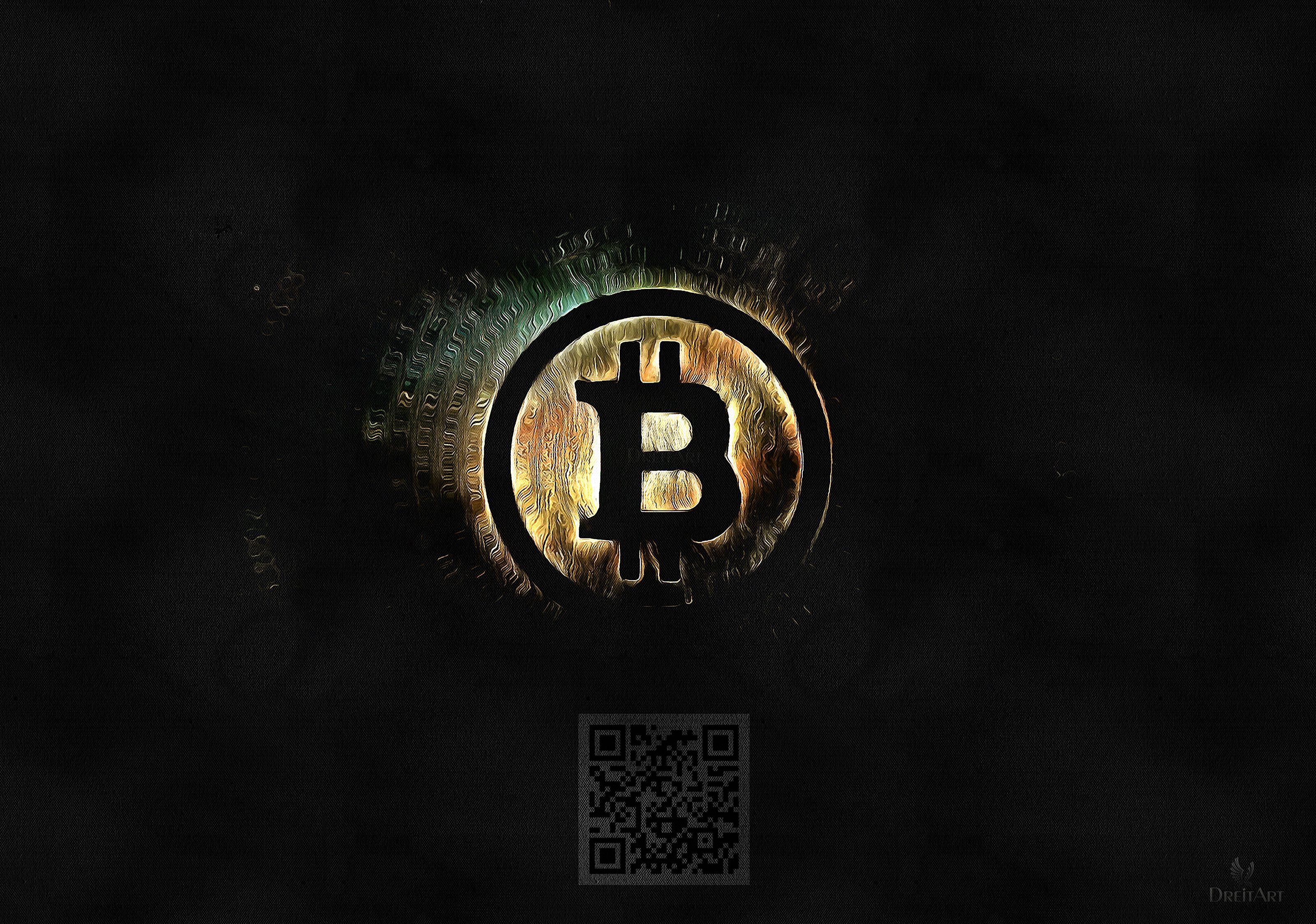 Bitcoin Dreitart Btc Crypto Cryptocurrency Abstract Wallpaper