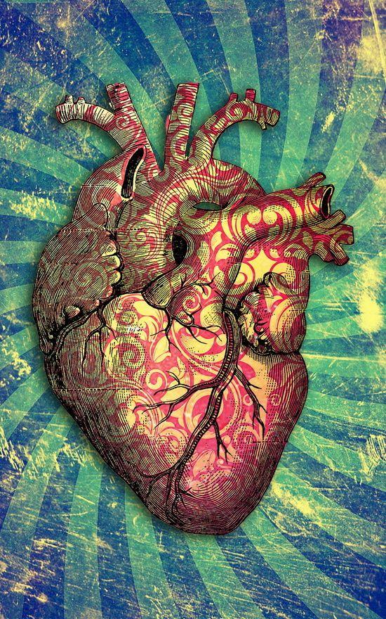 Anatomical heART Art Print | ANATOMIART | Pinterest | Labios rojos ...
