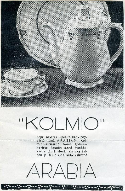 #Suomi #Finland #design #posliini #astiat #1940