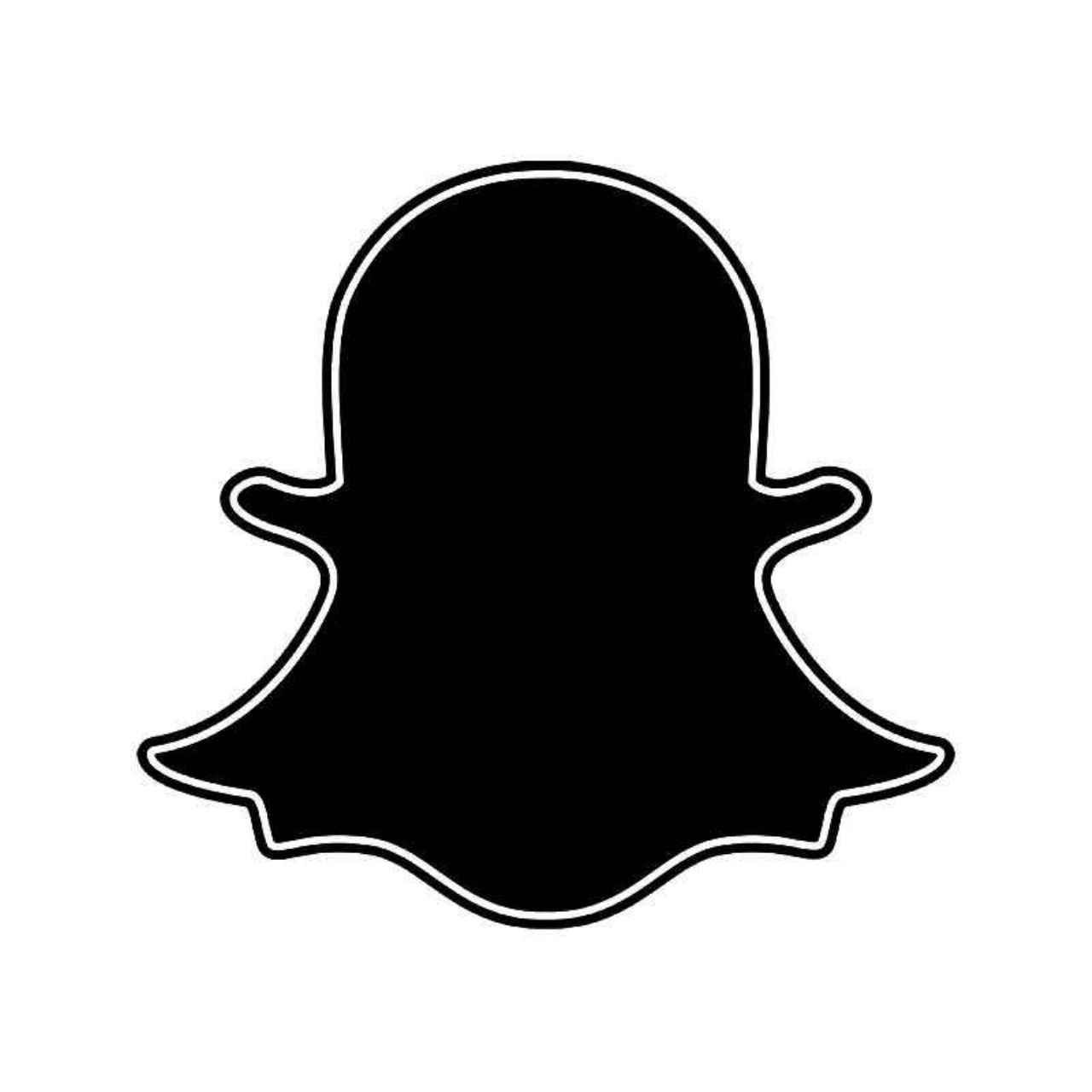 Snapchat Ghost Logo Vinyl Decal Sticker BallzBeatz   com