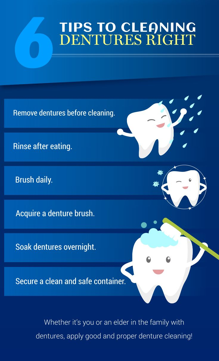6 tips to cleaning dentures right tips cleaningdentures