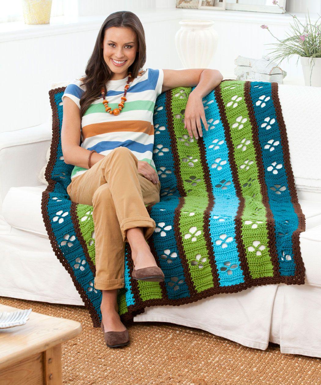Diese Decke ist dank den lebendigen Farben ein heller Farbtupfer im ...