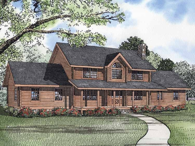 Log Style House Plan 5 Beds 4 5 Baths 5140 Sq Ft Plan 928 263 Log Cabin House Plans Log Home Plans Cabin House Plans