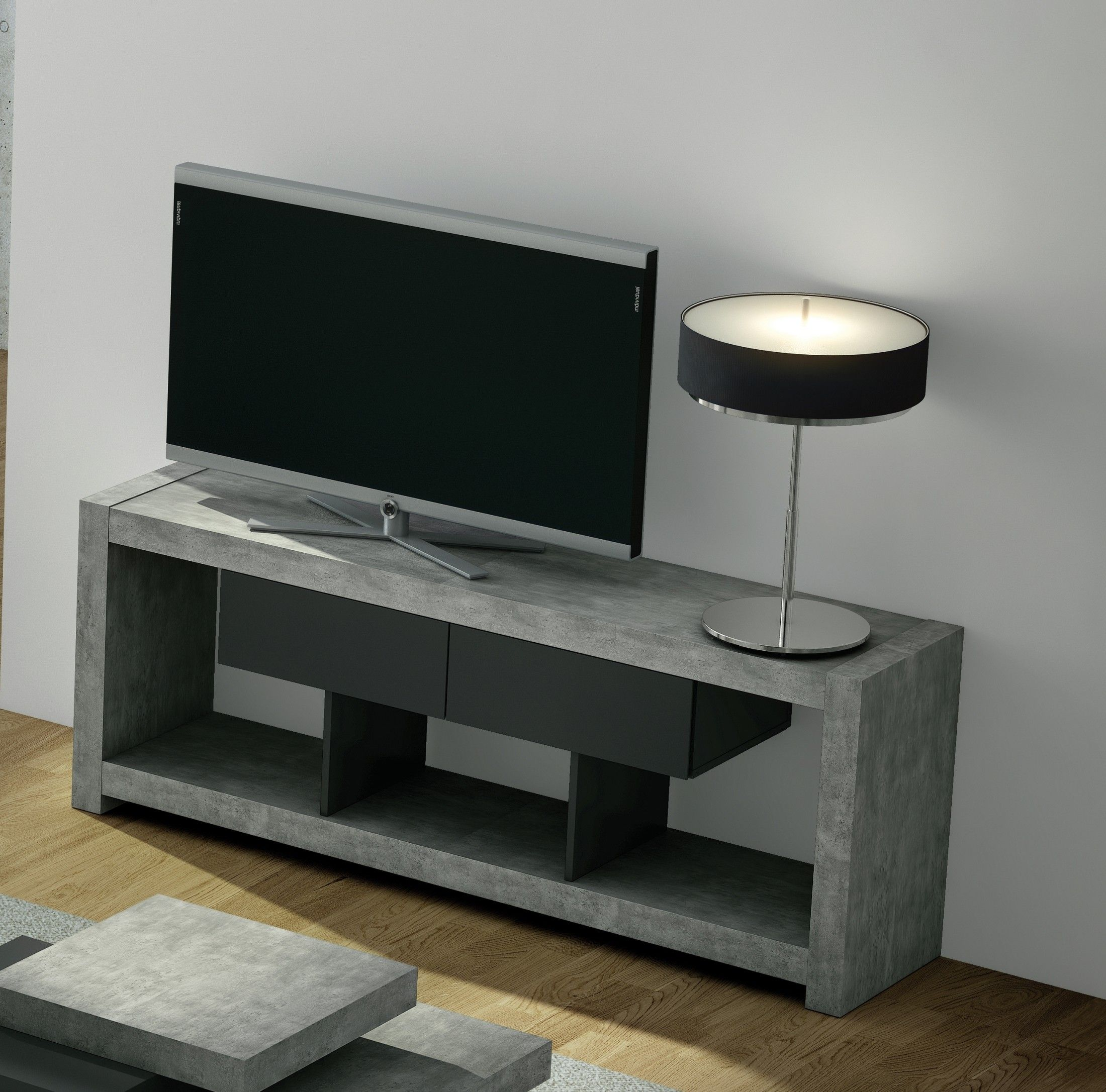 Nara Concrete Tv Console In 2019 Bedroom Stand
