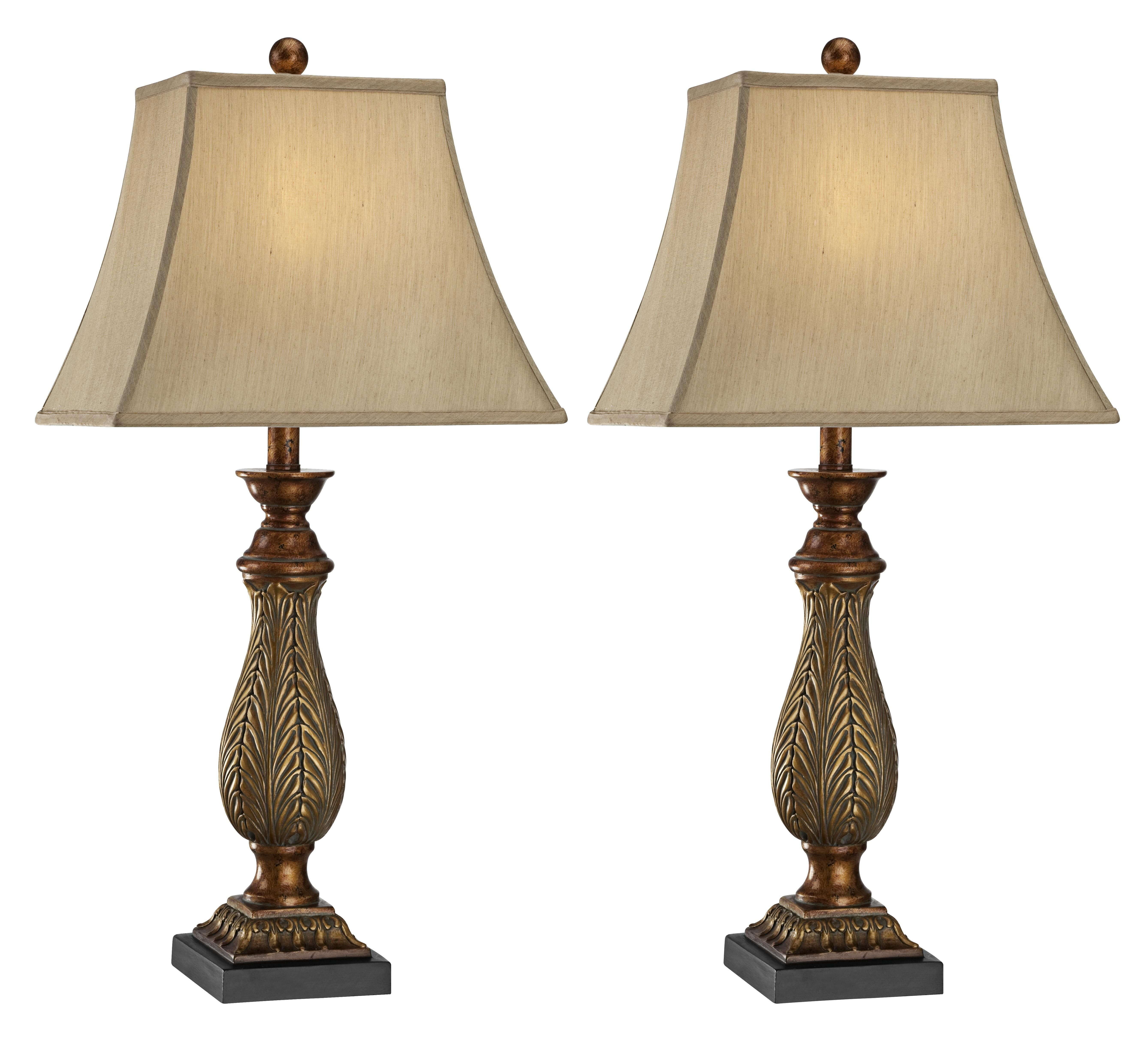 Lights Plus Decor: Two-Tone Gold Traditional Table Lamps Set Of 2