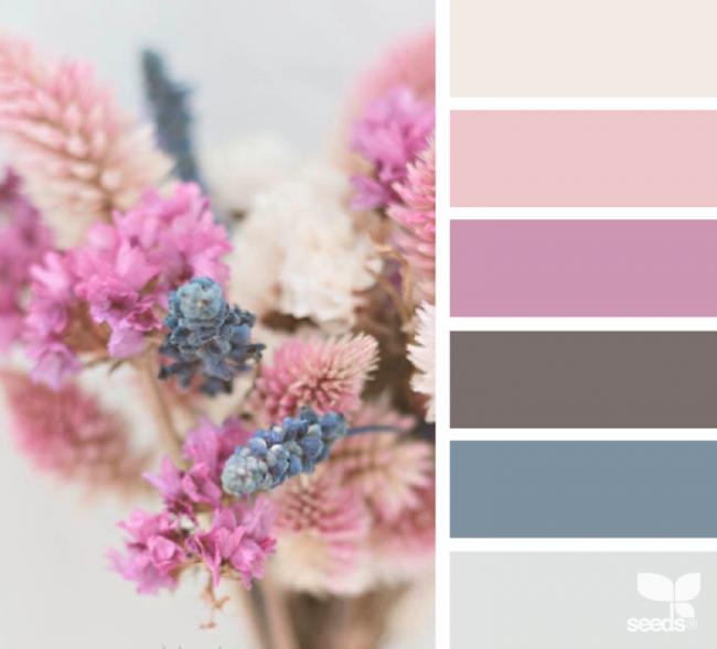 Altrosa Farben Palette Kombinieren Grau Blau Altrosa Wandfarbe Farbabstimmung Wandfarbe