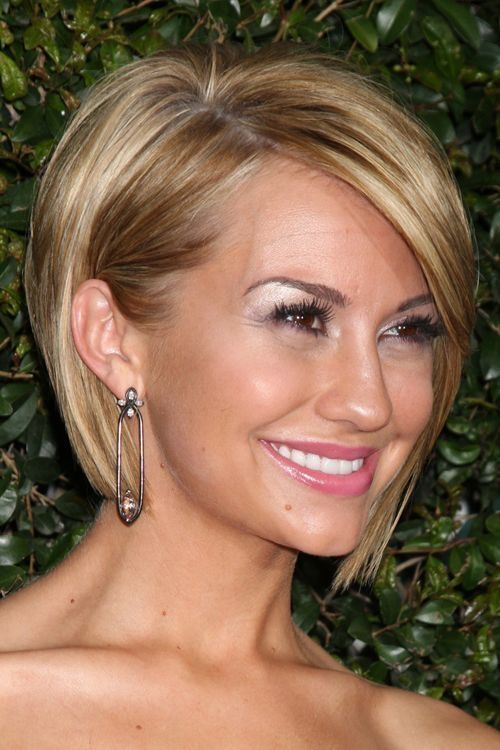 Chelsea Kane Hair Cut Front And Back Straight Honey Blonde Bob Hairstyle