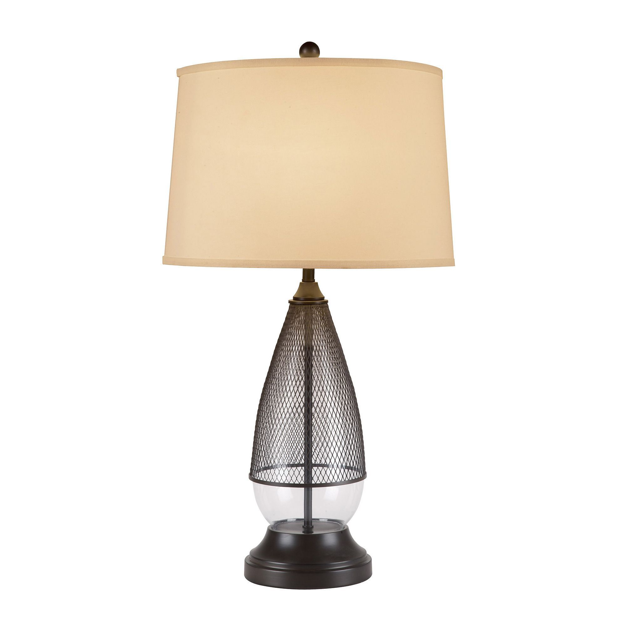 Catalina thomas 3 way 30 inch clear glass and bronze metal table catalina thomas 3 way 30 inch clear glass and bronze metal table lamp w cream linen mod drum shade bulb included clear glass bronze metal silver geotapseo Gallery