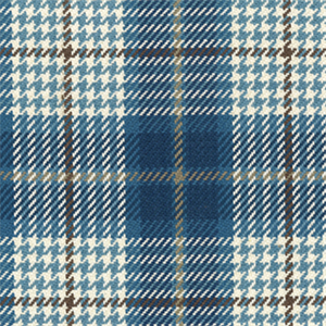 Brennan Cobalt Blue Plaid Check Cotton Upholstery Fabric By Roth And