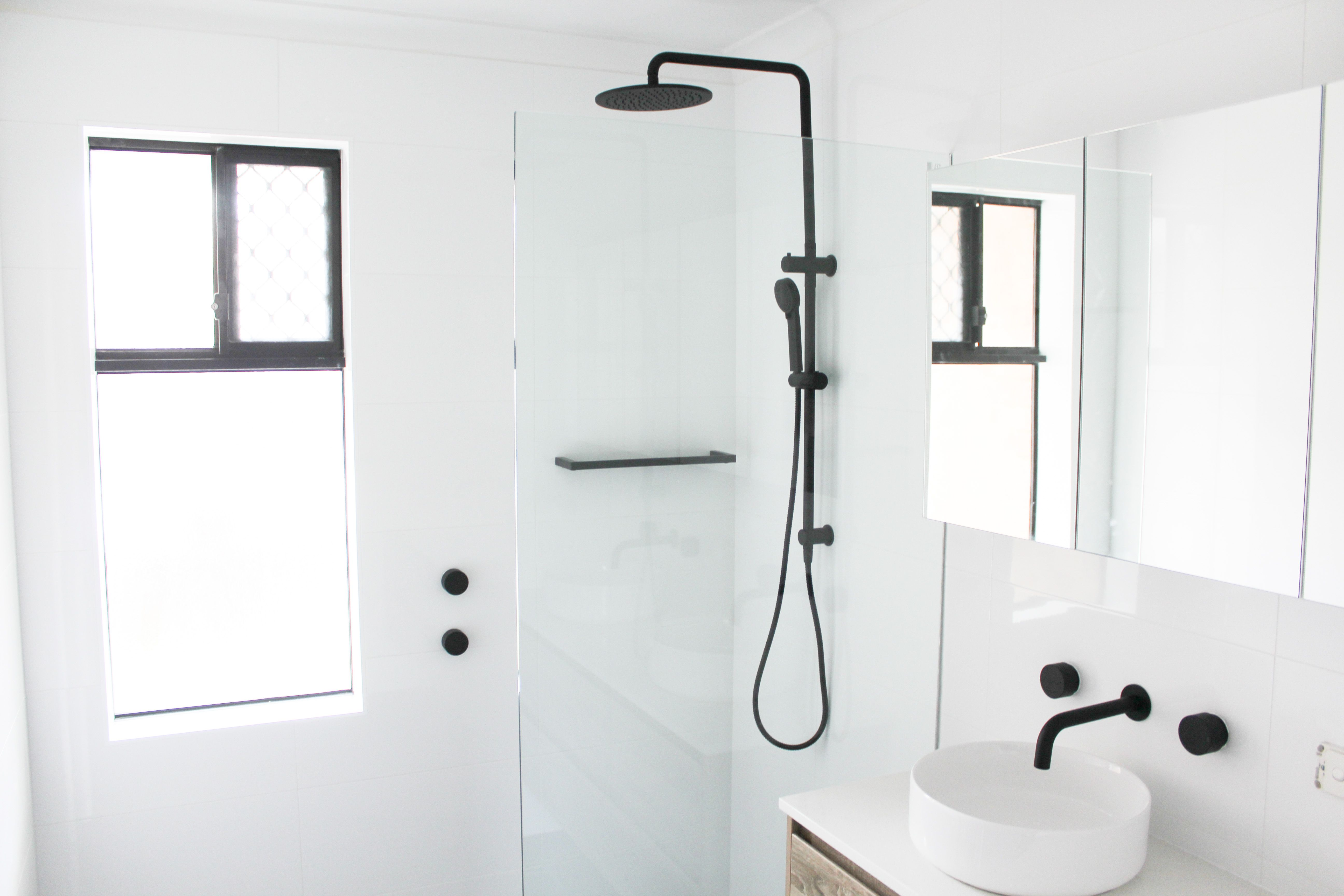 Bathrooms Black Shower Combo Taps