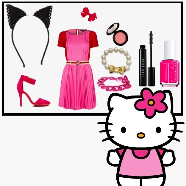 Hello Kitty DIY Costume! Style DIY costumes with this super fun - hello kitty halloween decorations